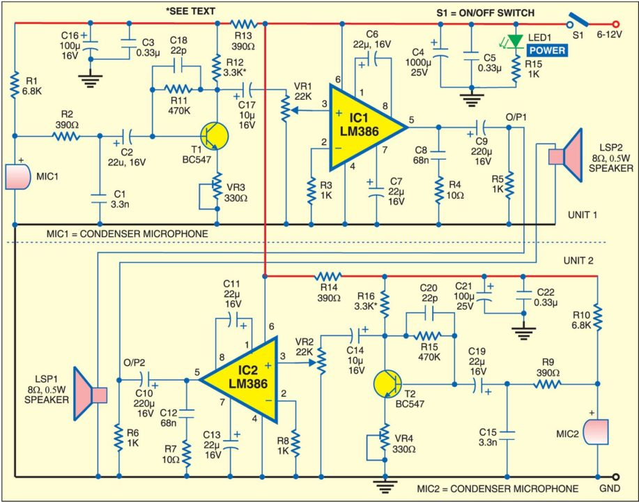 simple intercom circuit diagram simple circuit and schematic wiring diagrams for you stored