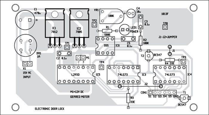 Electronic Door Lock Full Electronics Project With Schematics