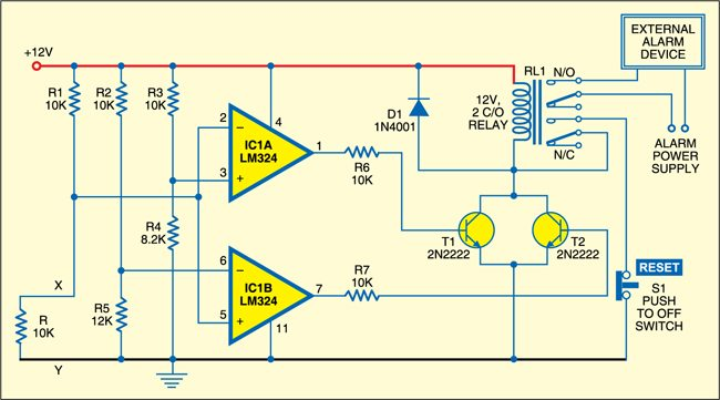 Fig. 1: Circuit of smart loop burglar alarm