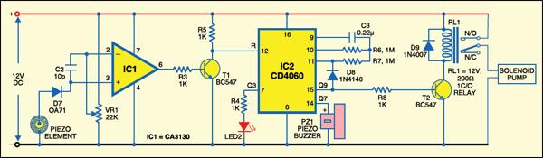 Fig. 1: Pyroelectric fire sensor