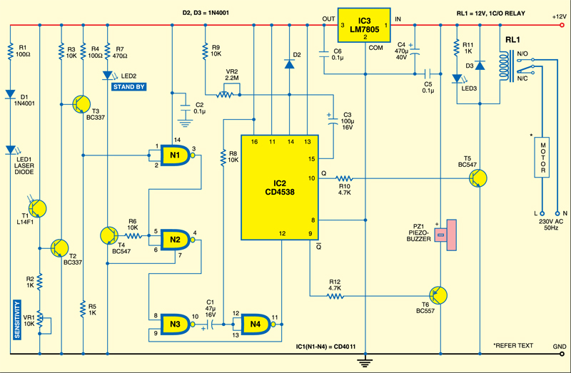Automatic Door Opener Detailed Circuit Diagram Available