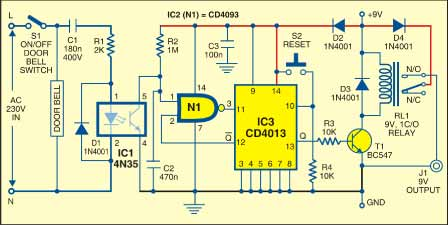 Fig. 1: Circuit for security switch