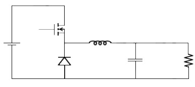 buck converter using MOSFET as switch
