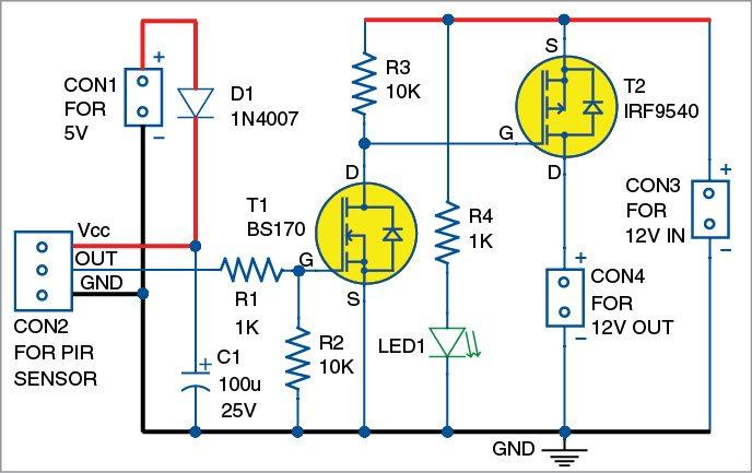 2: ir motion sensor switch