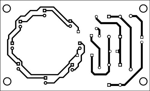 Fig. 2: A suggested PCB layout for the optical magnifier