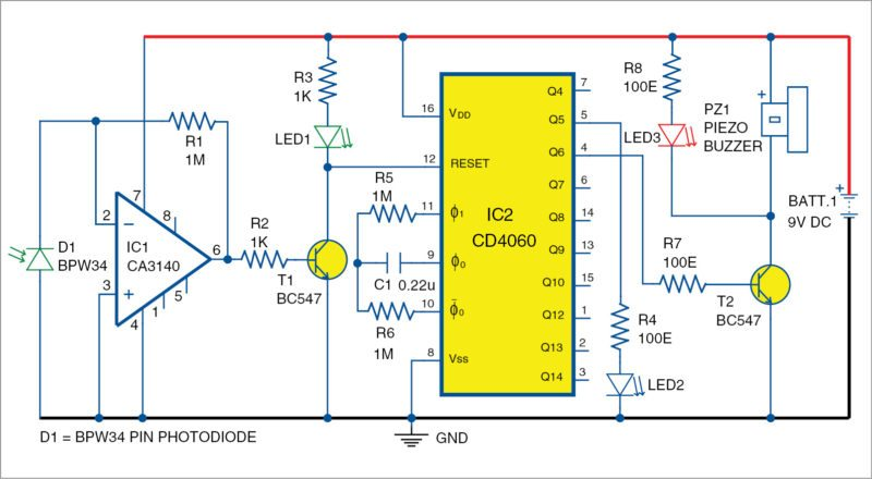 PIN Diode Based Fire Sensor | Detailed Project Available