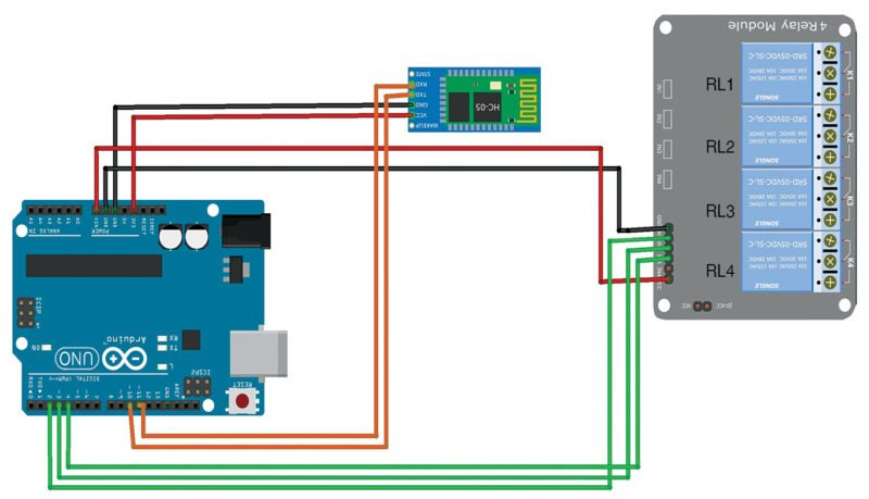 home automation system using a simple android app full project Software Wiring Diagram module fig 6 relay module connection