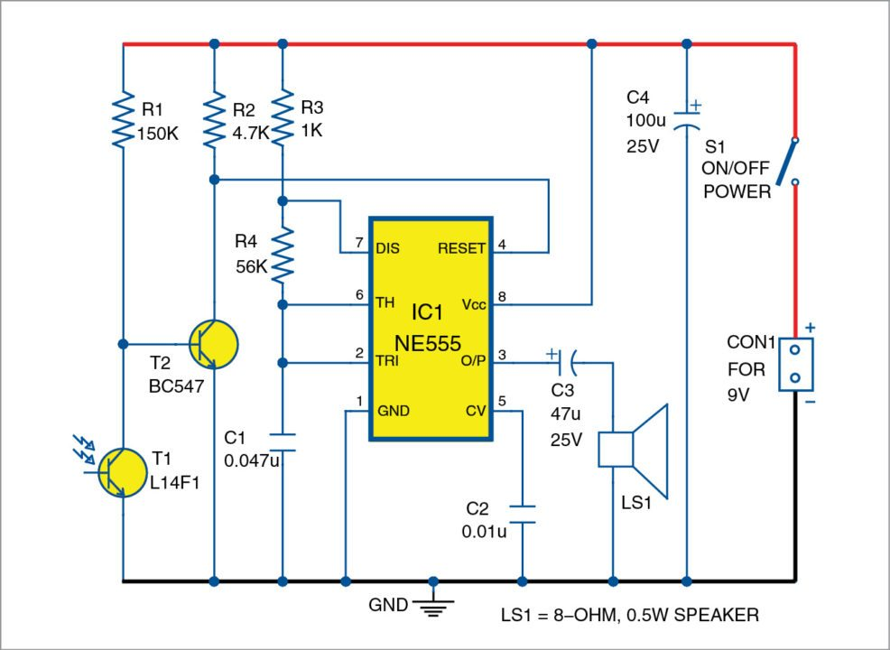 Light Sensitive Fire Alarm DIY | Circuit Diagram With Full Explanation
