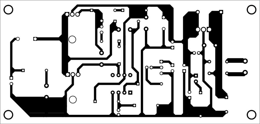 Fig. 3: PCB pattern of LME49710 audio amplifier