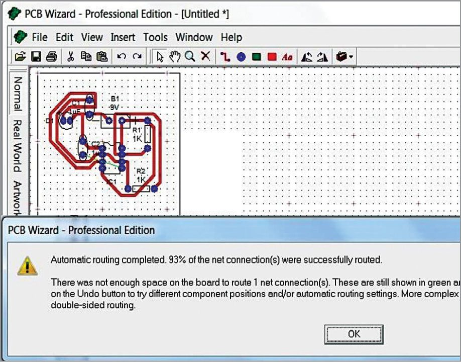 Fig. 7: PCB design generation in Livewire