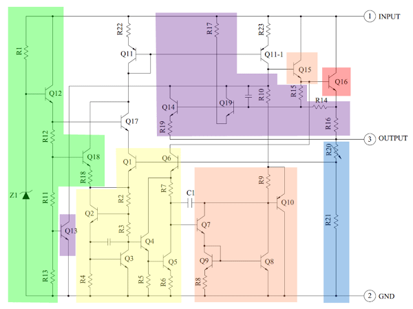 Schematic of IC 7805