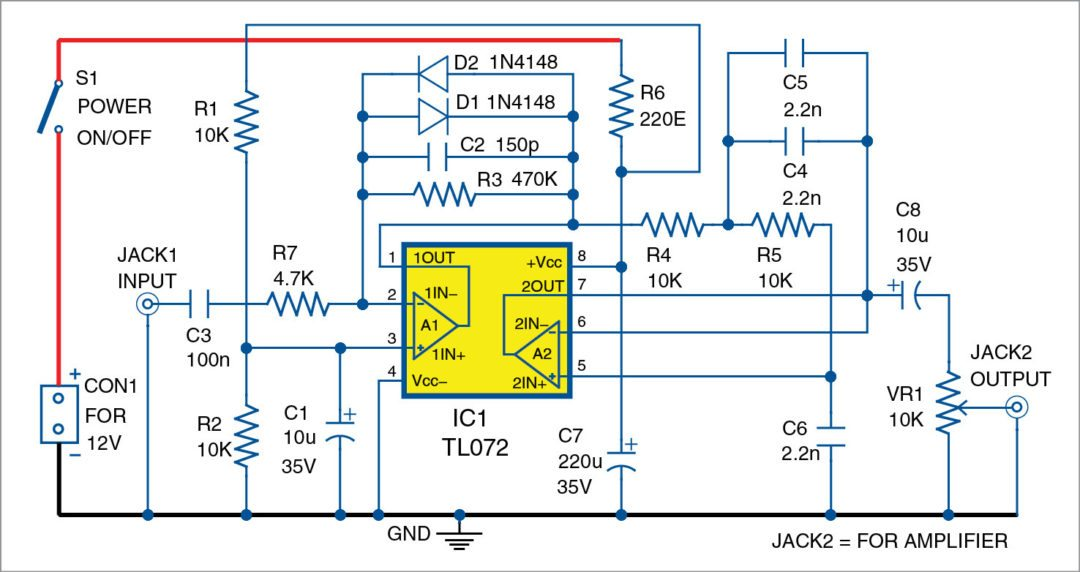 Audio Noise Limiter | Full Circuit Diagram with Source Code