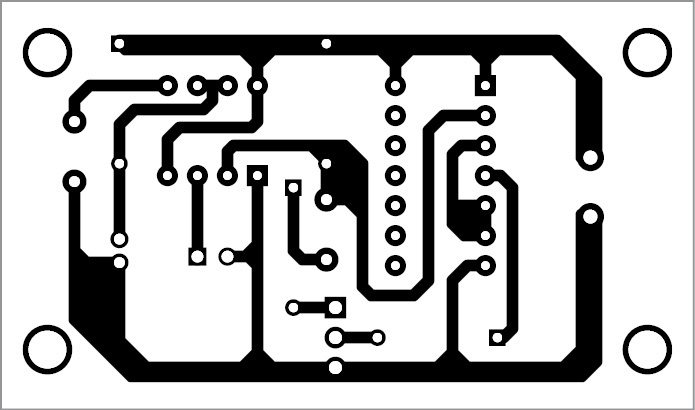 PCB pattern of the automatic power-resumption alarm