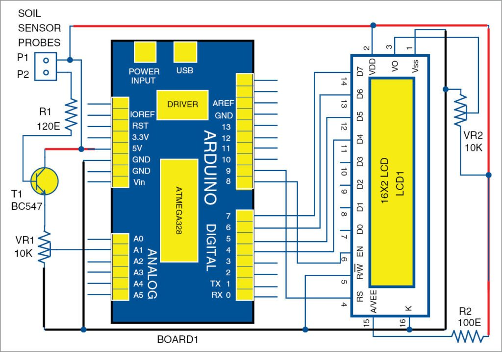 digital soil moisture meter detailed circuit available with source rh electronicsforu com