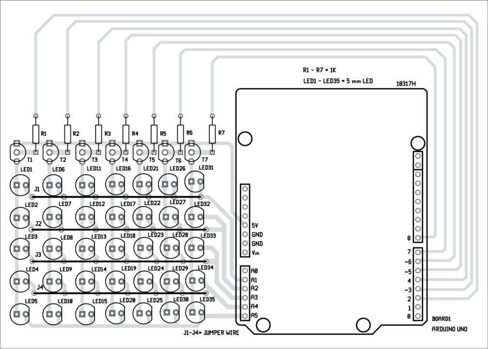 Arduino led do it yourself electronics project 7x5 matrix 311 swarovskicordoba Images