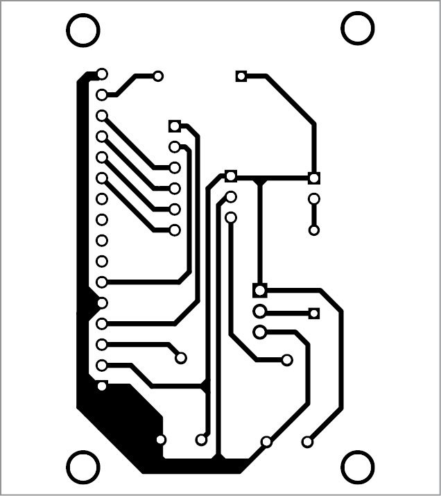 Fig. 4: PCB pattern of the soil moisture meter