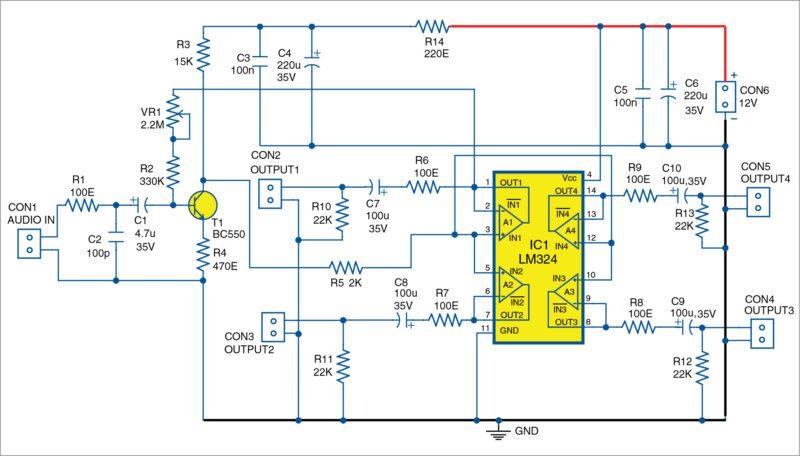Simple Low-Noise Audio Distribution Amplifier | Electronics ... on