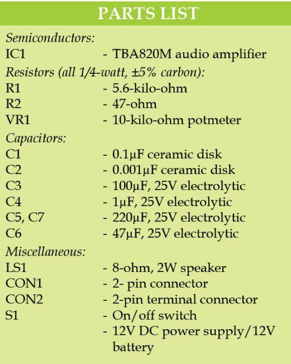 parts list77