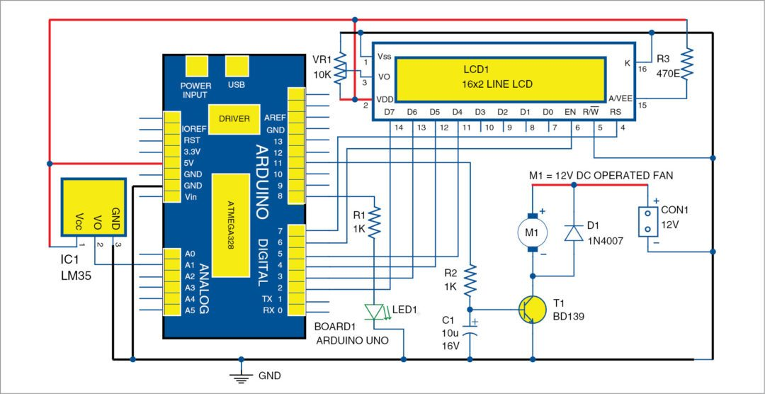 1 Circuit Diagram Of The Temperature Based Fan Sd Control And Monitoring