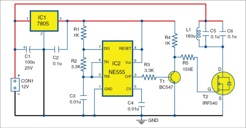wireless led transmitter unit circuit diagram