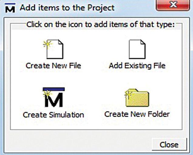 modelsim add items window