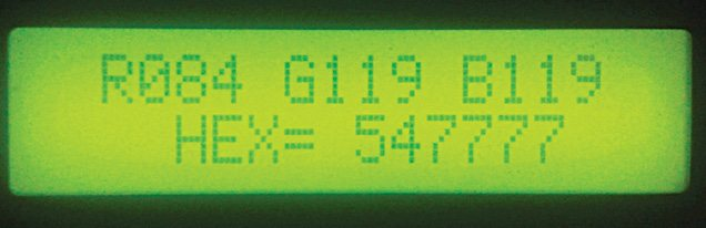 RGB colour display on the LCD