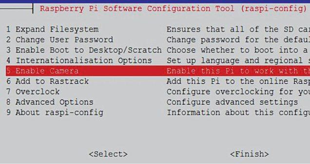 Raspberry Pi configuration screen
