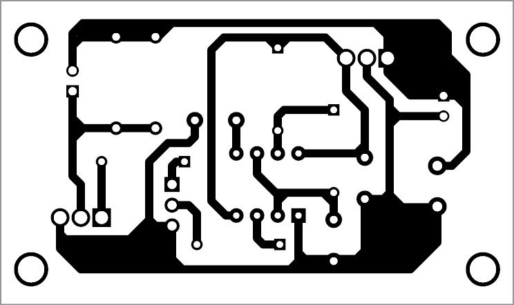 wireless led transmitter unit PCB pattern