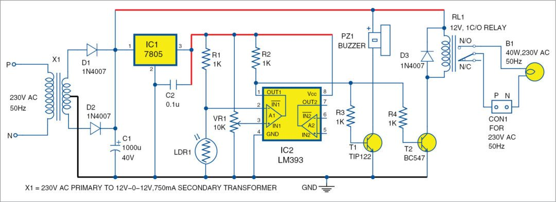 Electronic Eye Security System Using LM393 | Electronics Project