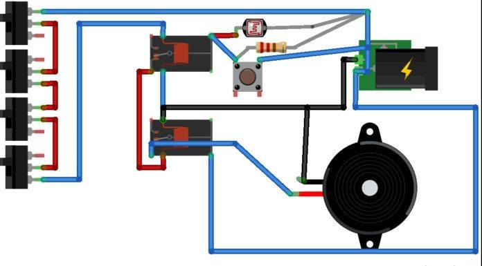 6v laser security system