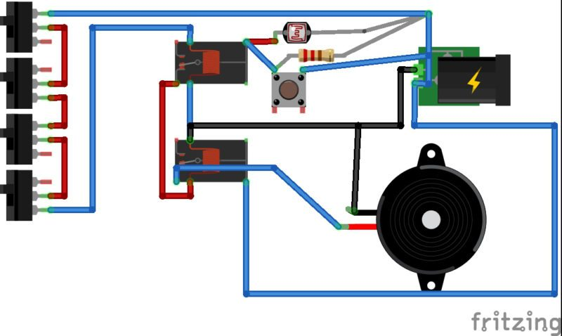 6V Laser Security System | Detailed Circuit Diagram Available
