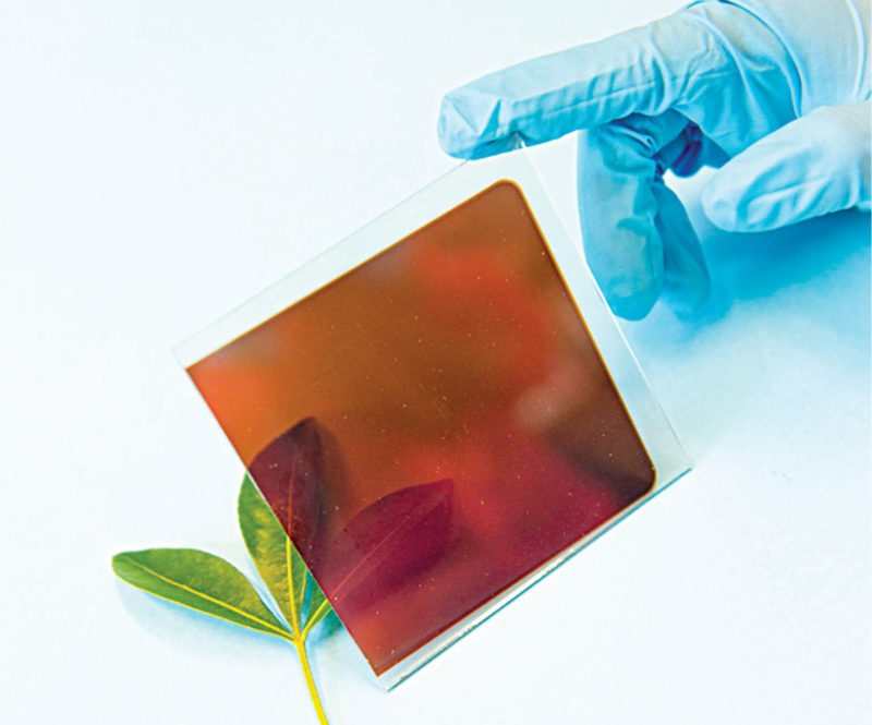 Materials: Perovskite fabricated on a glass sheet