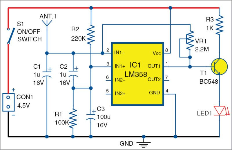 Figure 1 Cell Phone Signal Detector Circuit Circuitdiagrams - Fav