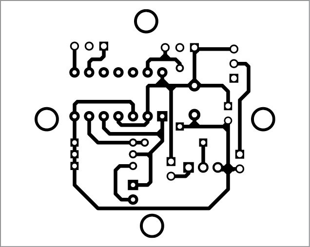PCB layout of the cistern overflow alert system