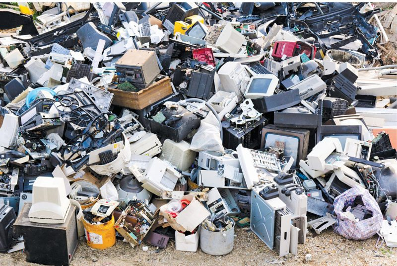 An e-waste dump largely made up of discarded electronic goods (Image courtesy: www.childfund.org)
