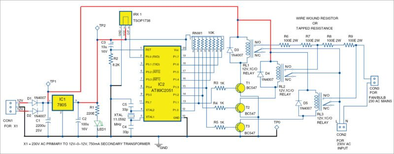 Remote-Controlled Smartfan Using AT89C2051 | Full Electronics Project