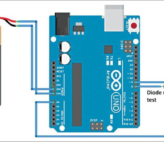 diode tester using MATLAB based GUI circuit
