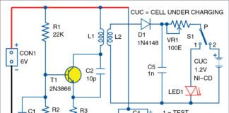contactless battery charger circuit