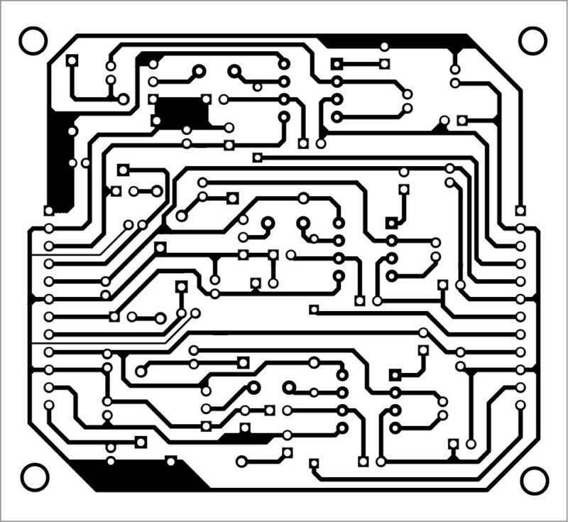 PCB layout of the DC-to-DC converter module