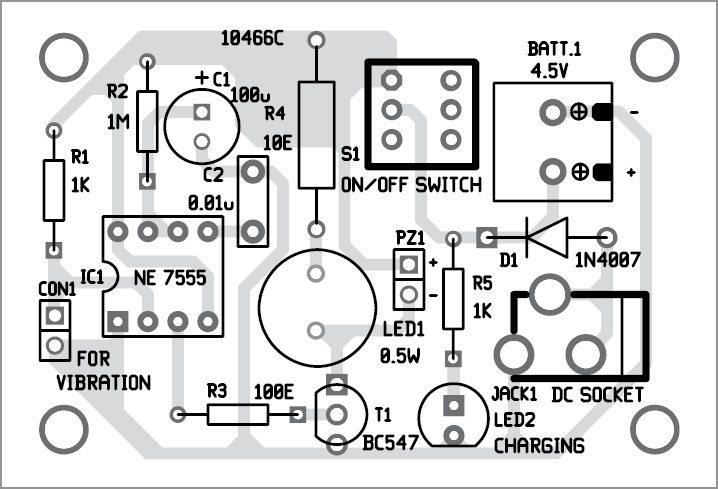 Vibration Sensor For Use as a Simple Surveillance System