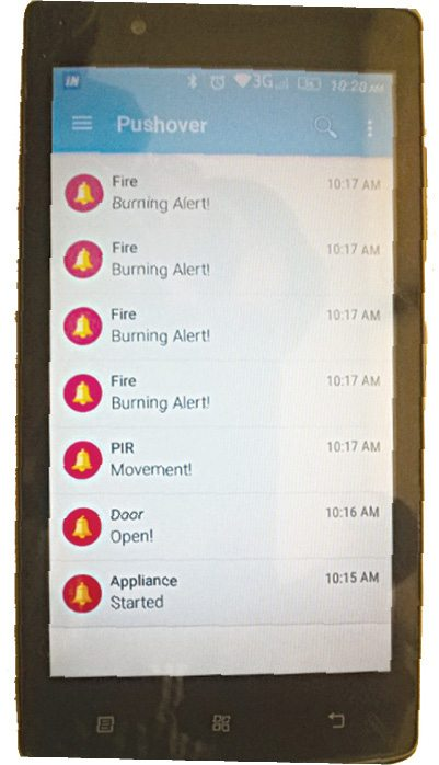 Alert notifications in Android mobile