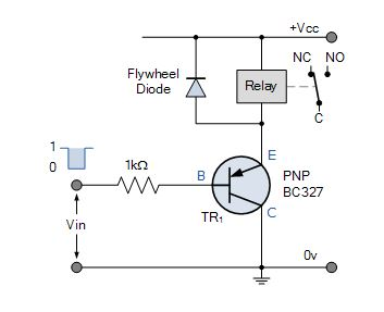 Relay switch pin diagram how to identify a relay switch pnp relay switch circuit ccuart Image collections