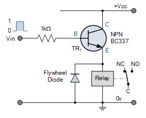 Relay switch pin diagram how to identify a relay switch emitter follower relay switch circuit ccuart Image collections