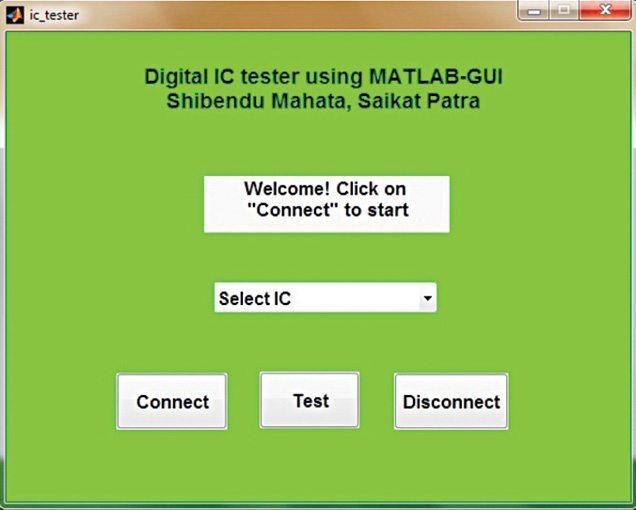 MATLAB-based GUI for testing the ICs