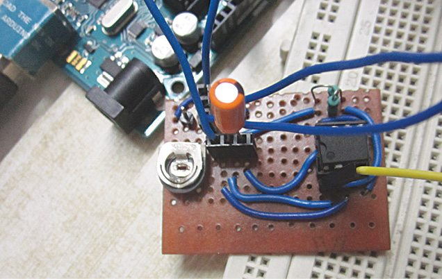 NE555 timer connection in author's breakout board
