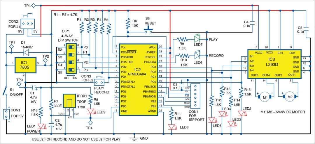 Universalremotecontrolledrobot Controlcircuit Circuit Diagram ... on