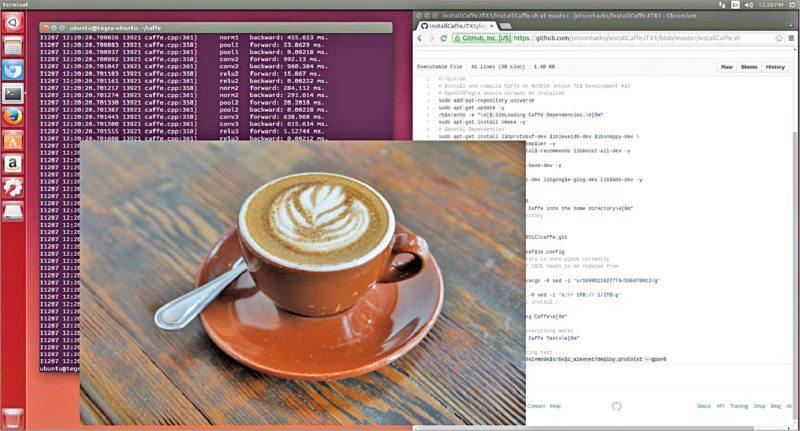 Caffe deep learning framework