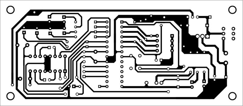 PCB layout of the remote controlled robot