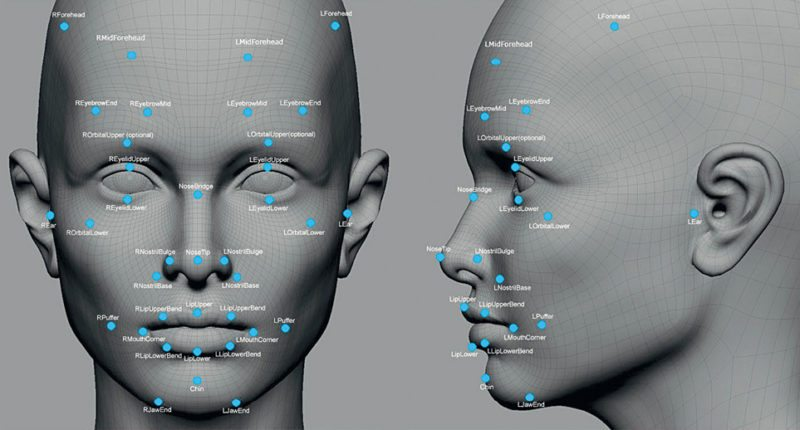 Face recognition technology identifies individuals by analyzing several features such as the upper outlines of eye sockets and sides of the mouth