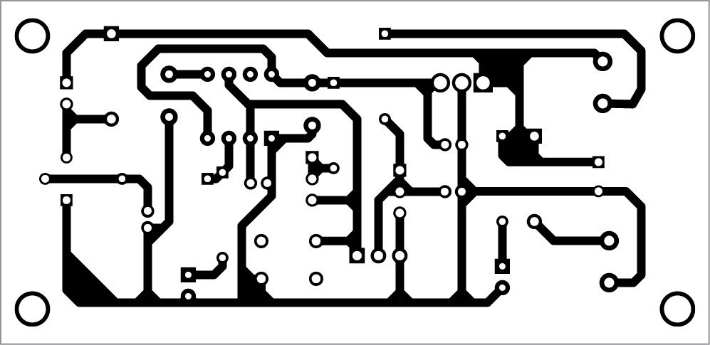 PCB layout of the water pump dry-run guard
